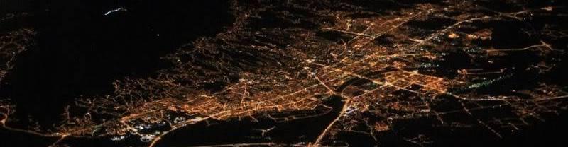 Zagreb iz zraka noću