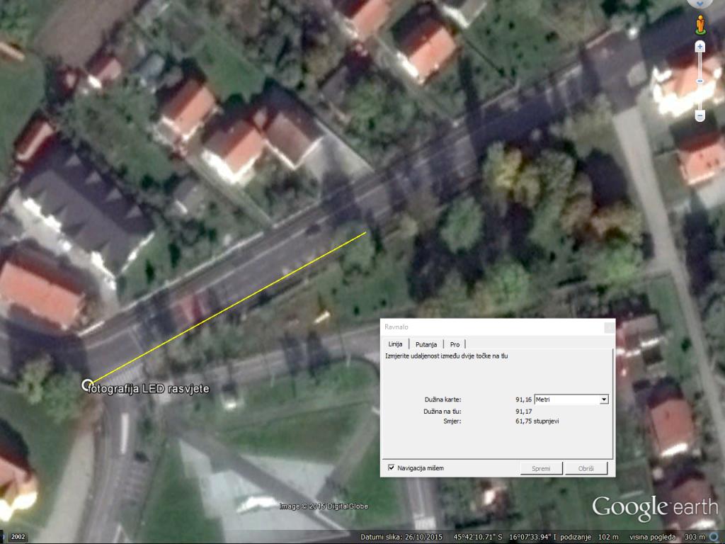 Mjerenje u Google Earthu otkriva koliko daleko su vidljivi detalji
